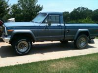 1983 JEEP J10 STARTS AND RUNS JUST FINE. REQUIRES A