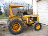 1983 J.D. 301A TRACTOR, DIESEL ENG. ROLL GUARD,3 POINT