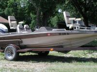 Great condition Kingfisher 16 ft. bass boat  115 hp