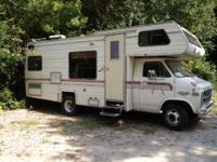 1983 Mallard motor home. Runs & drives. Has about 3k