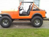 Cj7 jeep this is a must see 36' tires 258 straight 6