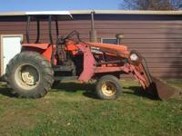 1984 allis chalmers mdel no. 6070 farm tractor with