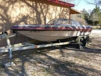 19ft ski boat, has a 260 Merc I/O with a 350 chevy