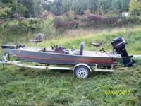 For Sale 1984 Bass Tracker 17 foot 75 horse mercury
