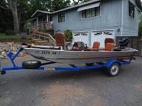 84' Bass Tracker boat and trailer W/40 HP Mercury