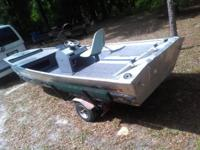 1984 Bass Tracker II 15' with aluminum float on