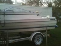 84 bay liner 19.5 feet ,cuddy cabin, trailor is in