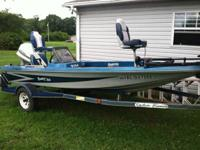 1984 Bumble Bee 16ft boat with 90hp Johnson, 44lb