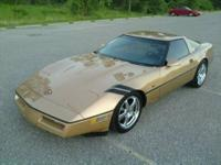 This is 1 of the 200 Gold 1984 C4 vettes bound for