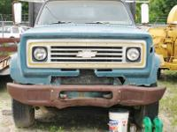 This Chevrolet dump truck is in used condition. It does