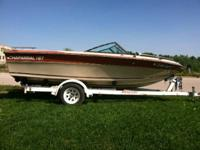 1984 Chaparral 17' boat and trailer only.  SOLD AS IS,
