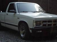 1984 Chevy S-10 Pick-up truck. Good: 5 speed Manual,