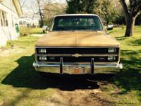 1984 Silverado Tan/Brown. 126K mileage. Cold A/C, Hot