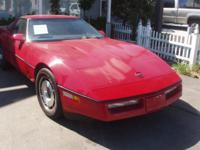 Classic 1984 Corvette, a one owner automobile. Just