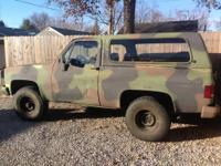 I have an 84 military diesel blazer for sale or
