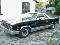 1984 Black and Silver El Camino Conquista 305 V8 with