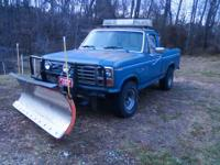 1984 Ford F-150, 4x4 4 speed, 300 six cylinder. This