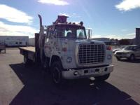 For sale is a 1984 Ford L-8000 truck fitted with a