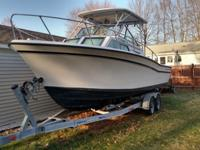 1984 Grady White 255 Sailfish beam powered boat with