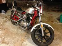 1984 Harley Davidson Sporster xlh1200 , Painted frame ,