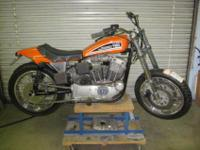This is a project XR 750 street tracker with a new