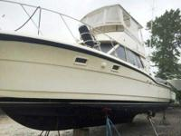 1984 Hatteras 36 Convertible Repowered with twin 2004