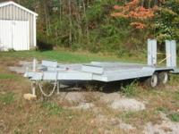 1984 5 Ton rebuilt heavy equipment trailer 6,000 Pound