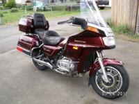 This is a 1984 Honda Goldwing Interstate GL-1200. Red