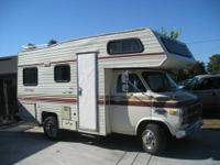 1984 RV Jamee Chevy 30, 19' bumper to bumper, 43,025