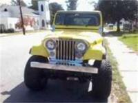 1984 Jeep CJ7. Fresh paint job, LED tail lights built