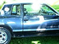 1984 Monte Carlo SS with a 305 HO with 85080 miles. In