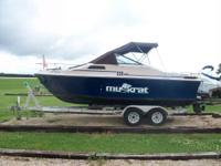 1984 Muskrat 220 C-Eagle with Mercruiser engine in good