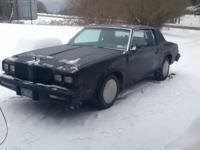 84 Cutlass Supreme, 3.8 V6, Automatic. Semi Gloss Black