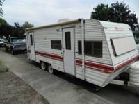 26 ' fully self contained pull camp trailer,new fridge,