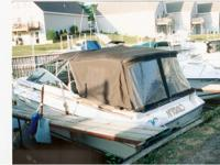 1984 Sea Ray SRV 255 Amberjack rigged for fishing. Twin