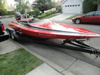 1984 Sleek Craft 21 ft. boat and trailer for $3600. In