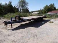 1984 JFW DT20 Trailer with dovetail and pintle eye