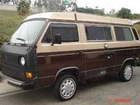 1984 Volkswagen Westfalia Camper This camper van