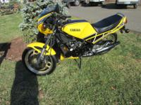 1984 Yamaha RZ350 for sale. It is a low mile bike in