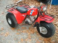 1984 HONDA BIG RED 3 WHEELER 200cc RUNS GREAT, TIRES