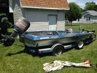 1985 17' Cheetah bass boat with 1986 Mariner 115hp
