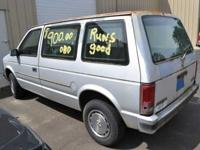 We have a 1985 Plymouth Voyager delivery van for sale.