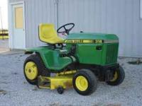 "1985 318 John Deere $2500 obo. 42"" Tiller available"