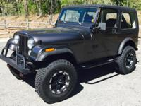 1985 AMC Jeep CJ7 Charcoal Grey 65,000 miles AM/FM