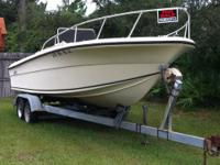 1985 Angler Center Console w/150 Yamaha. Fishing boat