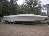 "1985 Baja Boat 16'-6"" with 140 Mercury outboard motor,"