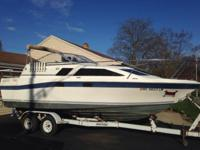 1985 Bayliner Ciera 24' length 8'beam with aft cabin.
