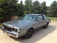 Very solid 1985 Buick T Type Fast Car! Grey paint &
