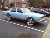 Light Velvet Blue Custom Chevy Caprice in Excellent