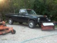 I have a 1985 Chrvy C20 4x4 Plow Truck. 350 4 barrel 3